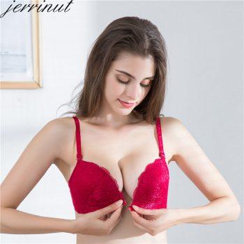 Jerrinut Front Closure Bras For Women Underwear Sexy Lace Bralette Push Up Brassiere BH Wireless Bra Breathable Soutien Gorge