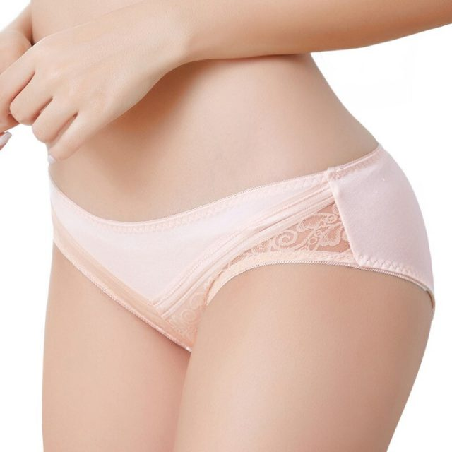 Sexy lace large size panty sexy hip breathable briefs lace underwear underwear  comfortable abdomen modal matching
