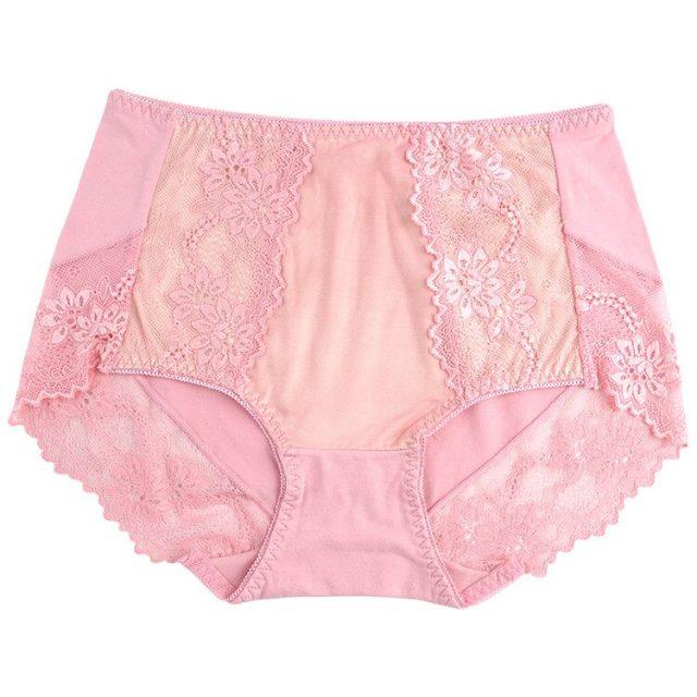 Women's Large size sexy breeches comfortable breathable pants lace Modal underwear Abdomen ventilation hot sale suit all season