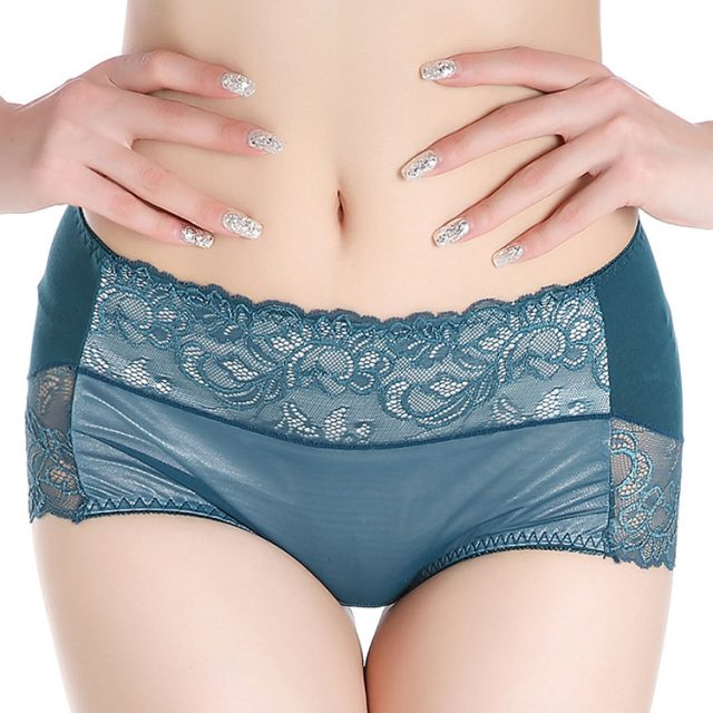 Women's large size pants comfortable breathable lace underwear abdomen body modal sexy hip pants hot sale all season