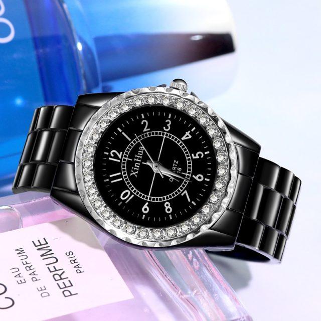Women's Watch reloj dama Luxury Rhinestone Crystal Bracelet Watch Women Fashion Ladies Watches Female Clock erkek kol saati