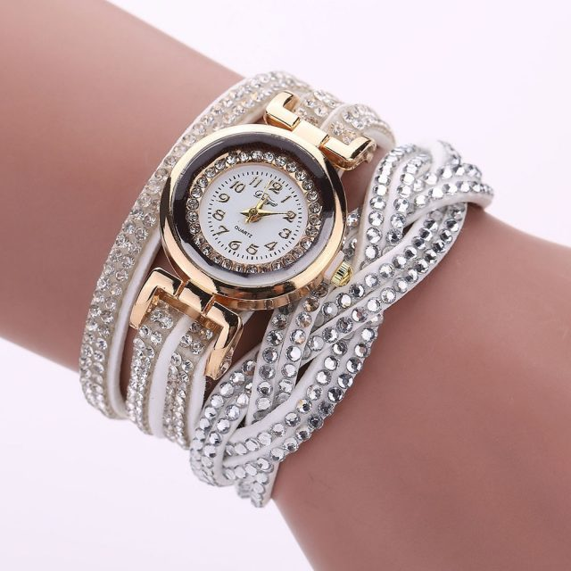 Women's Watches reloj mujer Luxury Crystal Women Gold Bracelet Quartz Wristwatch Rhinestone Watches Freeshipping & Wholesale  #D