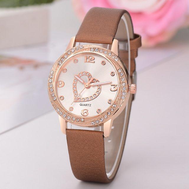 Leather Strap Bracelet Watch Women Heart Watches Top Brand Luxury Ladies Fashion Casual Watch Female Clock Relogios Femininos