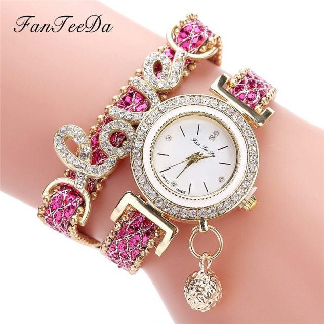 High Quality Beautiful Fashion Women Bracelet Watch Ladies Watch Casual Round Analog Quartz Wrist Bracelet Watch For Women A40