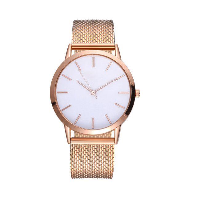 Hot sale Women's Casual Quartz Silicone strap Band Watch Analog Minimalist gold Wrist Watch relogio feminino montre femme 40Q