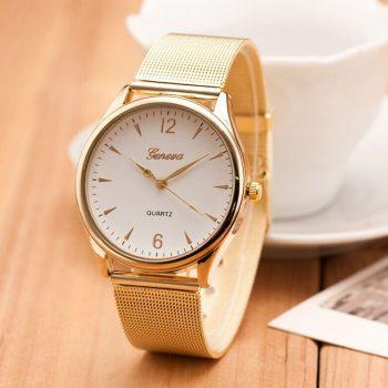 Women Watches Geneva top Brand Famous Relogio Feminino 2019 Mesh Stainless Steel Quartz Ladies Dress Wrist watch female Clock