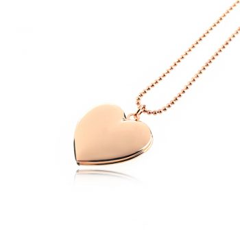 Women Men Fashion Silver/Rose Gold Heart Shaped Necklace Pendant For Friend Photo Picture Frame Locket Necklaces Jewlery Gift