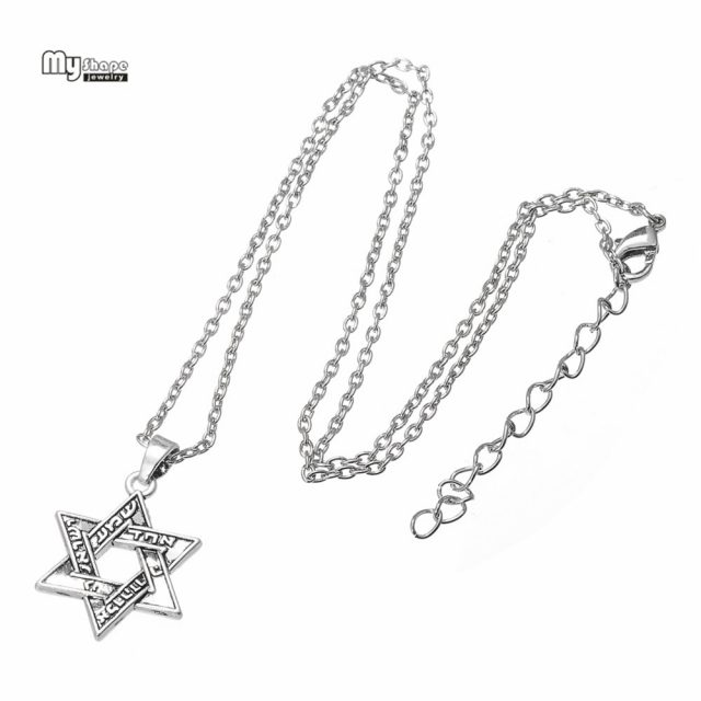 My Shape Ethnic Choker Hebrew Religious Statement Necklace Men Star of David Pendant Necklaces for Women Jewlery Accessories