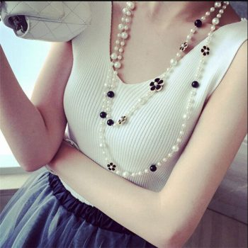 N67 Pearl jewlery Collier perle femme collar largo acessorios para mulher Jewelry Sweater Chain Long Necklace 2016 new For Women