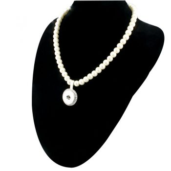 New Imitation Pearls Beads Snap Necklace For Women With Elegant Pendant Fit DIY 18MM Xinnver Snap Jewlery Wholesale ZG020