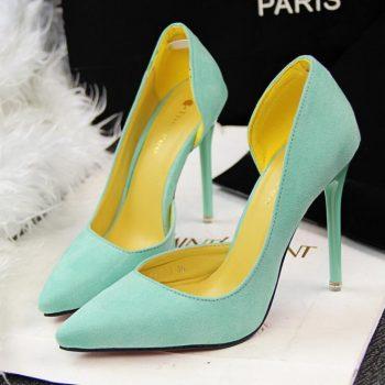 2017nib  FASHION  New High Heels Women's Sandals Summer Shoes Woman Ladies Pumps Sexy Thin Air Heels Footwear Woman Shoes 35-39