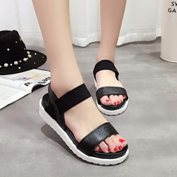 Summer sandals women shoes footwear Women sandals 2019 new peep-toe platform casual shoes woman outdoor flat with comfortable
