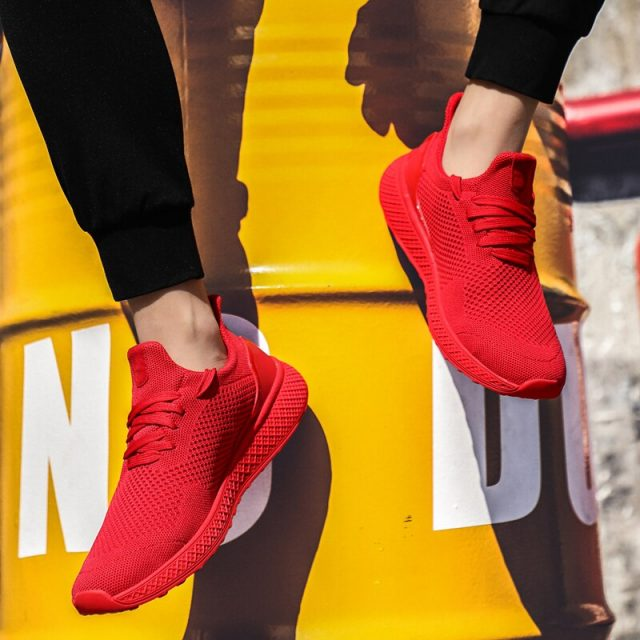 GUDERIAN Fashion Casual Shoes For Men Spring Autumn Male Sneakers Shoes Light Breathable Vulcanized Shoes Footwear Men