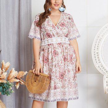 New Plus size   women dress   size   Torridity dress  sleeve casual beach boho vestido 2019