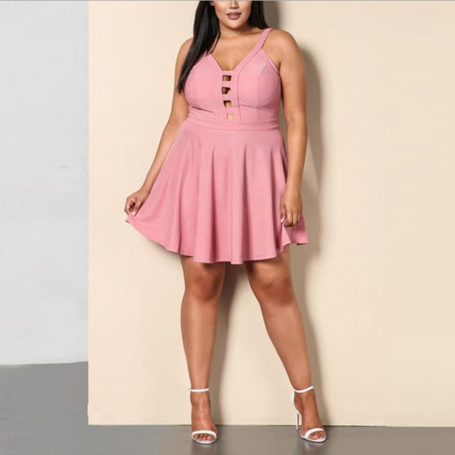 Sexy Dating Party Strap Plus Size Dress