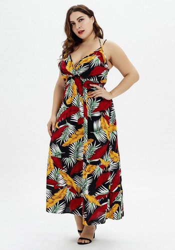 V-Neck Beach Sling Beach Holiday Strap Dress