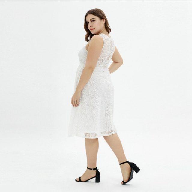 Lovely Sexy V Neck Hollow Knitting Dress