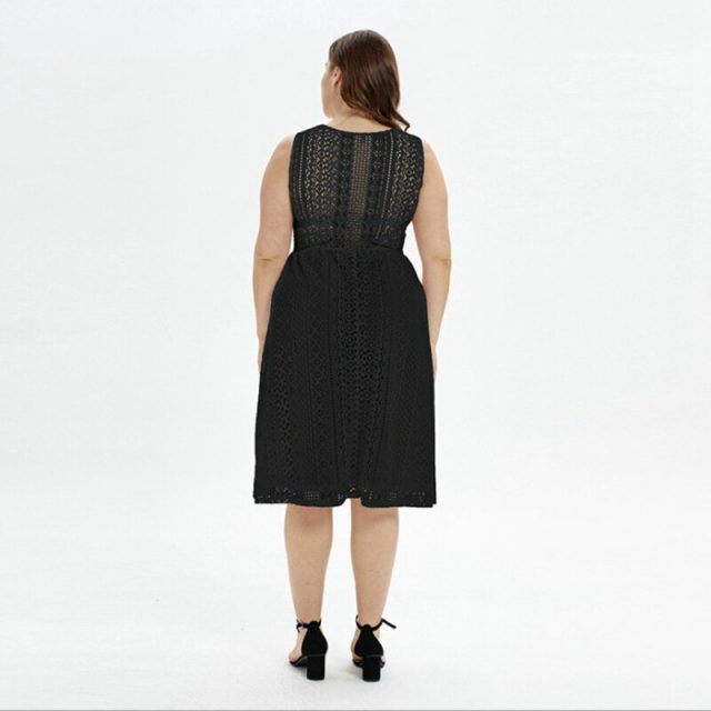 Lovely Sexy V Neck Hollow Knitting Dress