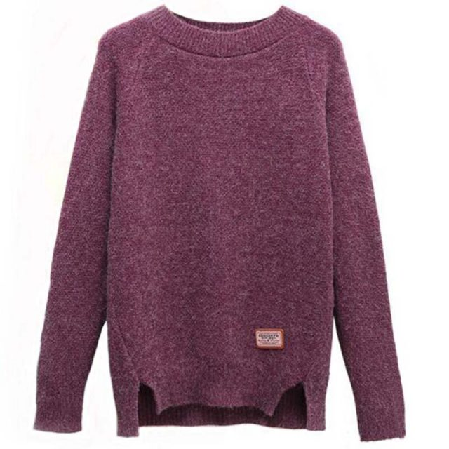 2018 Women Sweaters And Pullovers Autumn Winter Long Sleeve Pull Femme Solid Pullover Female Casual Knitted Sweater NS3996