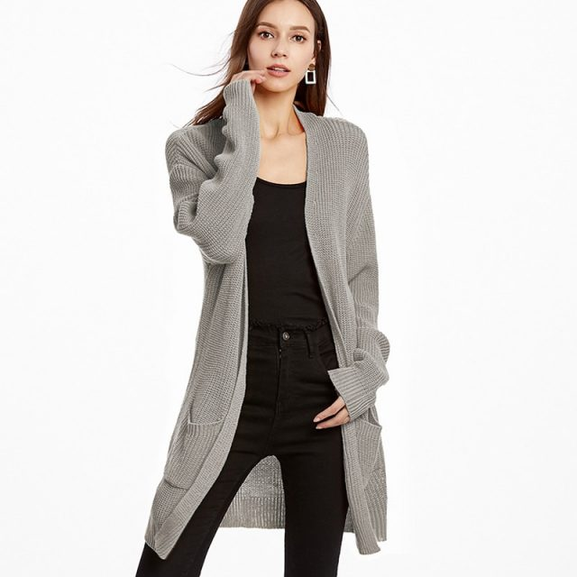 Long Sleeve Knitted Loose Cardigan Sweaters & Coat Minimalist