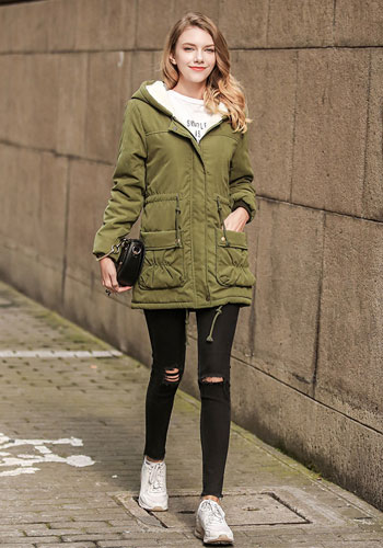 Coat Thicken Parka Female Warm Ladies Casual Long Jacket Hooded Snow Wear