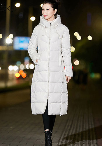 Long Snow Coat Parka Plus Size Warm Hoodie Jackets Zipper Padding Thick Winter Wear