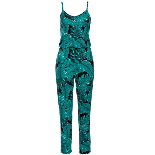 Lossky Women Rompers Jumpsuit Fashion Printed Backless Sleeveless Pocket Summer Sling Long Beach Pants Jumpsuit Trouser Jumpsuit