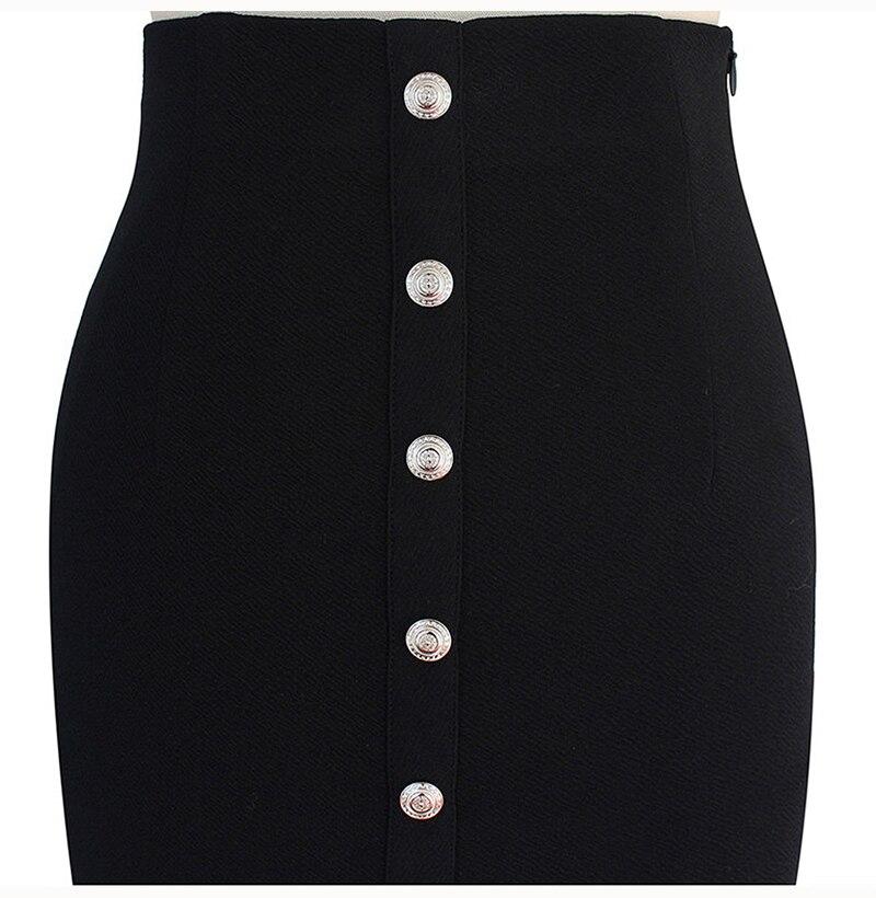 Lossky Skirts Sexy Slit Pencil Midi Skirts Plus Size Women Office Long Black Autumn Winter High Waist Warm Clothes Zipper 2019