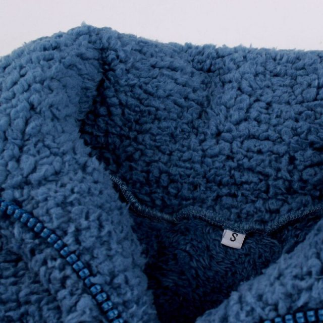 Lossky Sweatshirt Tops Women Winter Thick Warm Jacket Ladies Pocket Stitching Zip Up Pastel Oversized Plush Clothes Coats 2019