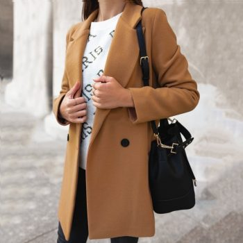 Slim Blazer Women 2019 Fashion Autumn Casual Jacket Female Office Lady Suit Solid Turn-down Collar Blazer Breasted Coat Tops