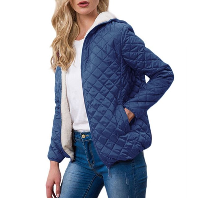 Autumn 2019 Jacket Womens Winter Outwear Coat Plus Velvet Lamb Hooded New Parkas Basic Jackets Female Women Winter Cotton Coats