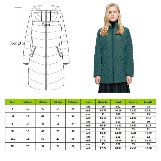 New Basic Coats Female Hooded Long-sleeved Light Cotton Coat Women Straight Through Collar Cotton Winter Plus Outwear Jacket
