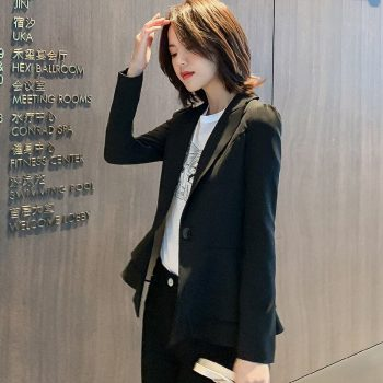 2019 New Autumn Winter Korean Version Of The Long-sleeved Ladies Were Thin Ocean Net Red Short Small Jacket Women Blazer S-xxl