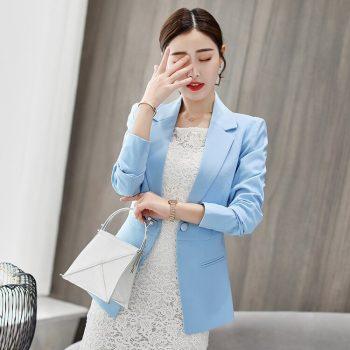 2019 Women Blazers And Jackets Spring Autumn Fashion Single Button Blazer Femenino Ladies Blazer Female Size coat S--2XL