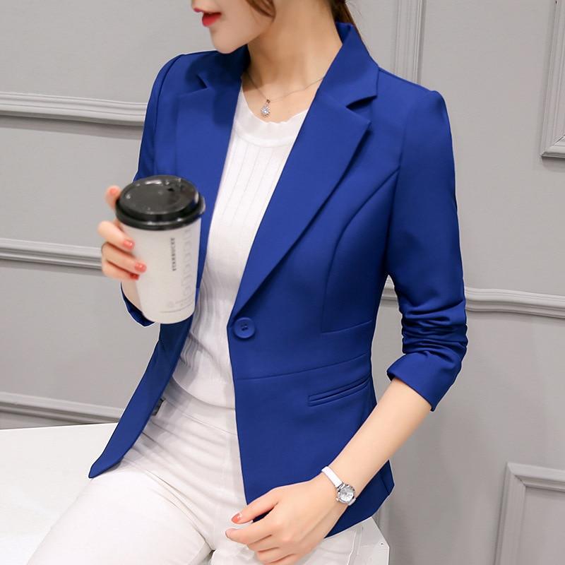 2019 spring and autumn professional small suit female Korean version solid color ladies Blazer temperament commuter women jacket