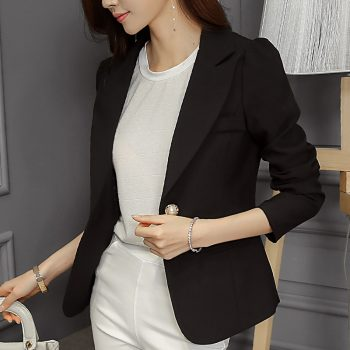 Samgpilee 2019 New Sytyle Fashion Women Lady Suit Coat Business Blazer Long Sleeve Jacket Outwear Clothes Female Blazers