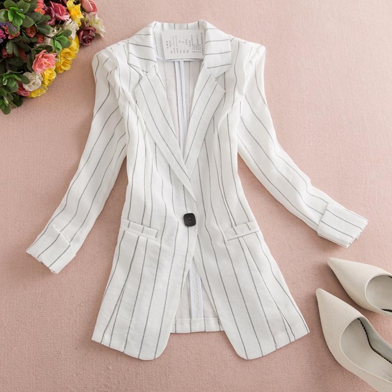 2019 Women's Blazer Pink Long Sleeve Blazers Solid One Button Slim Office Lady Jacket Female Tops Suit Blazer Femme Jackets