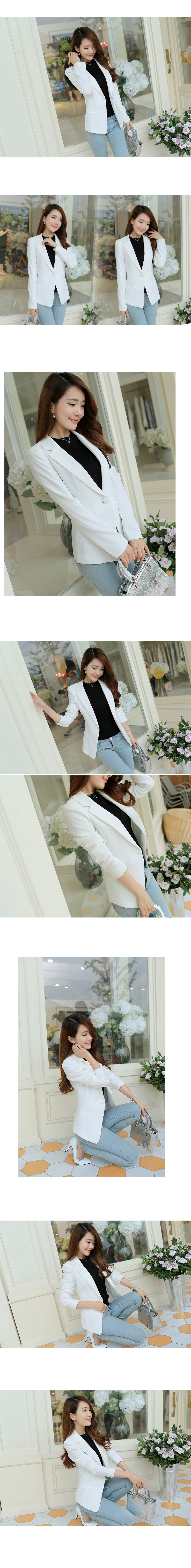 2019 Spring And Autumn New Suit Female Korean Version Long-sleeved Small Blazer Jacket Professional Single Button Office Lady