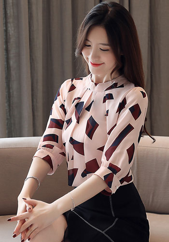 Summer blouse for women 2019 womens clothing print chiffon blouse women office ladies tops womens tops and blouses 4482 50