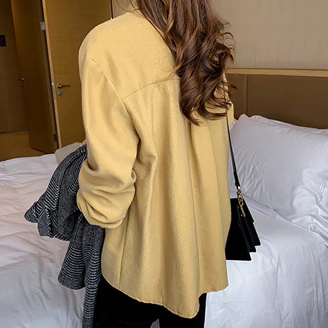 New Long Sleeve Solid Blouse Women Shirt Casual Loose Plus Size Cardigan Women Blouse Autumn Clothes Blusas Mujer 6859 50