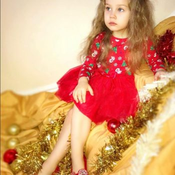 MUQGEW Toddler Kid Baby Girl  Christmas Clothes  princess dress girls costumes with long sleeves  vestido infantil festa #y2