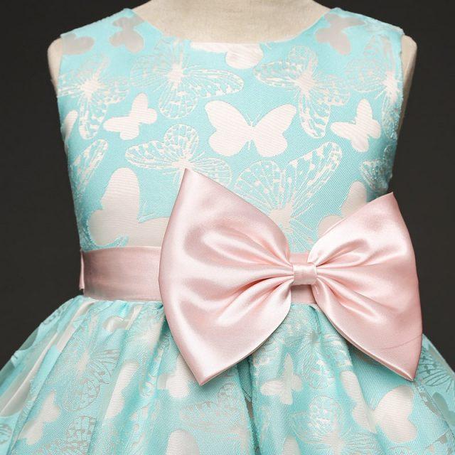 Big Bow Butterfly Kids Girl Wedding Flower Girls Dress Princess Party Pageant Formal Dress Prom Little Baby Girl Wedding Dress