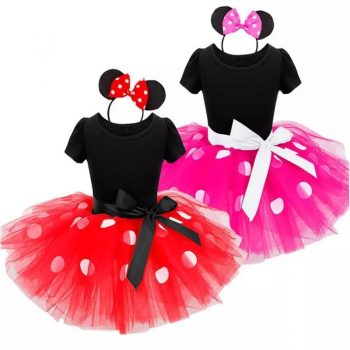 Fancy Kids Dresses for Girls Birthday Halloween Cosplay Cartoon Minnie Mouse Dress Up Kid Costume Baby Girls Kids 2 6T Wear