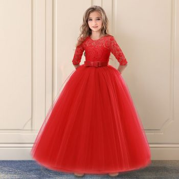 6-14T Girls Dresses Elegant Long Princess Dress For Wedding and Party Dresses Christmas Clothing Gown Kids Dresses For Girls