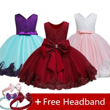 Christmas Dress For Girls Evening Costume Kids Dresses For Girls Princess Sleeveless Dress Children Party Dress Vestido Infantil