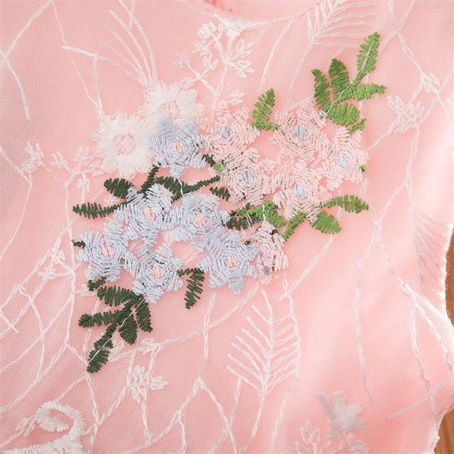 2019 New Summer Girls Dress Kids Girls Embroidery Lace Flower Dress Kids Girl Party Wedding Gowns Children Girl Princess Dress