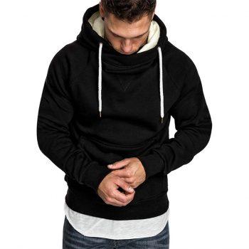 KANCOOLD Pocket Solid Hooded sweatshirt men 2019 Spring Black Hoodies Coat Men Casual Long Sleeve Sweatshirts Male Jackets top 7