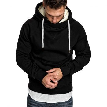 KANCOOLD Pocket Solid Hooded sweatshirt men 2019 Spring Black Hoodies Coat Men Casual Long Sleeve Sweatshirts Male Jackets top 7
