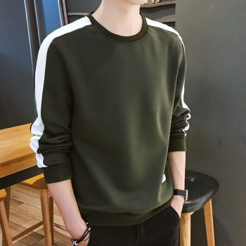 Men's Hoodies Long Sleeve Sweatshirt 2019 Winter Solid Color Army Green Sweatshirt  Streetwear Slim  Hoodies Men M-4XL Big Size