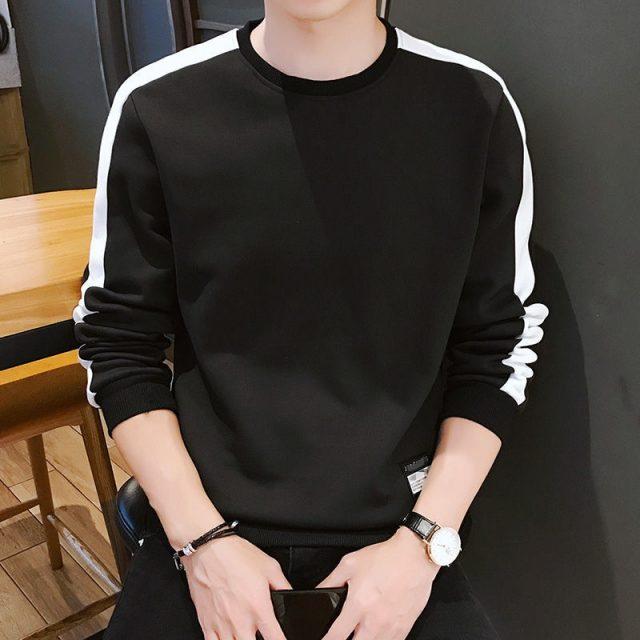 Men's Hoodies Long Sleeve Sweatshirt 2019 Winter Solid Color Army Green Sweatshirt  Streetwear Slim  Hoodies Men M-4XL Big Size